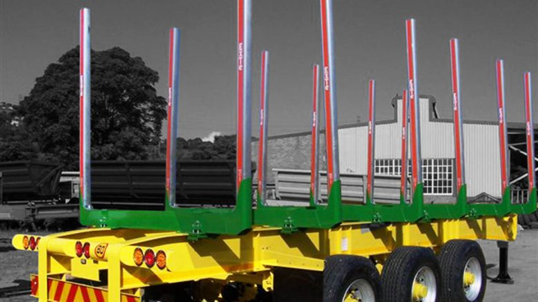 tri axle timber trailer with removable bunks