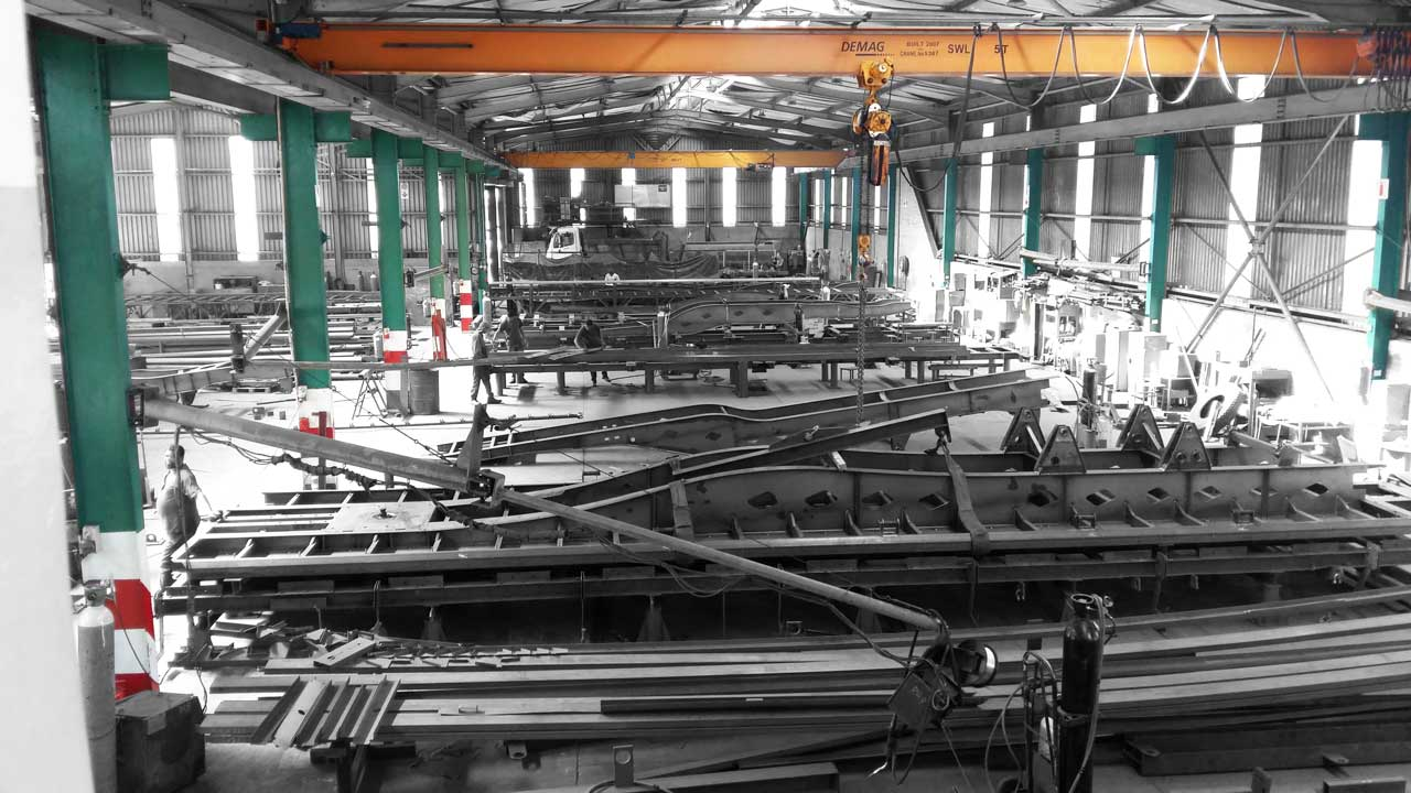 trailer chassis production Line